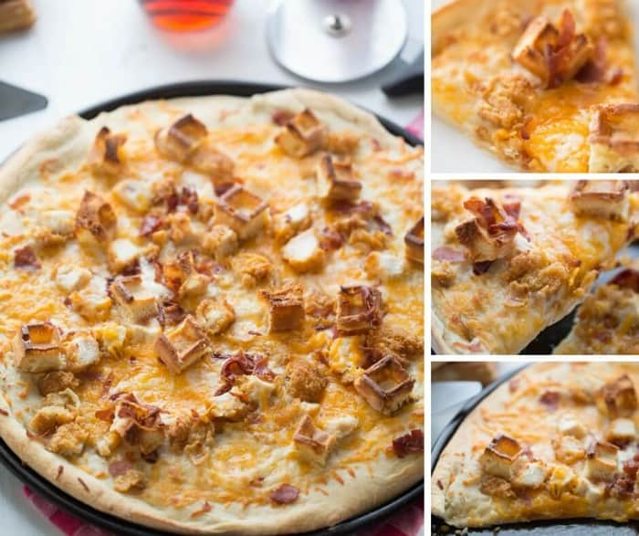You don't have to go out to enjoy a good chicken and waffles recipe! This easy homemade pizza comes together surprisingly quick and tastes out of this world!