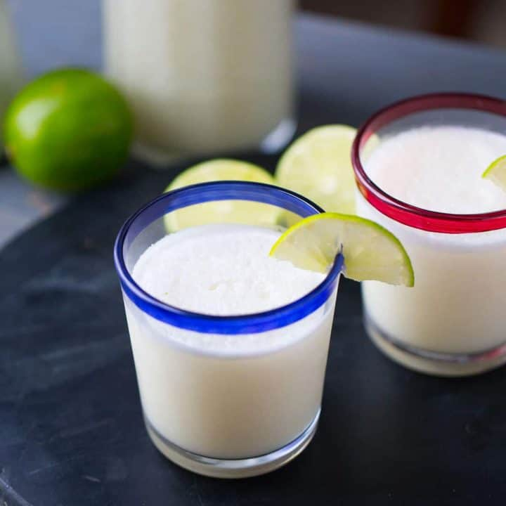 This lemonade slushie is like no other. This spin on the Brazilian beverage is creamy, icy, frothy and refreshing. It will become your favorite!