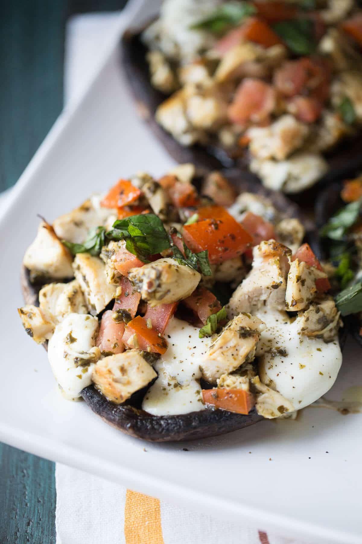 Caprese Chicken Portobello Mushrooms {Lemons for Lulu}