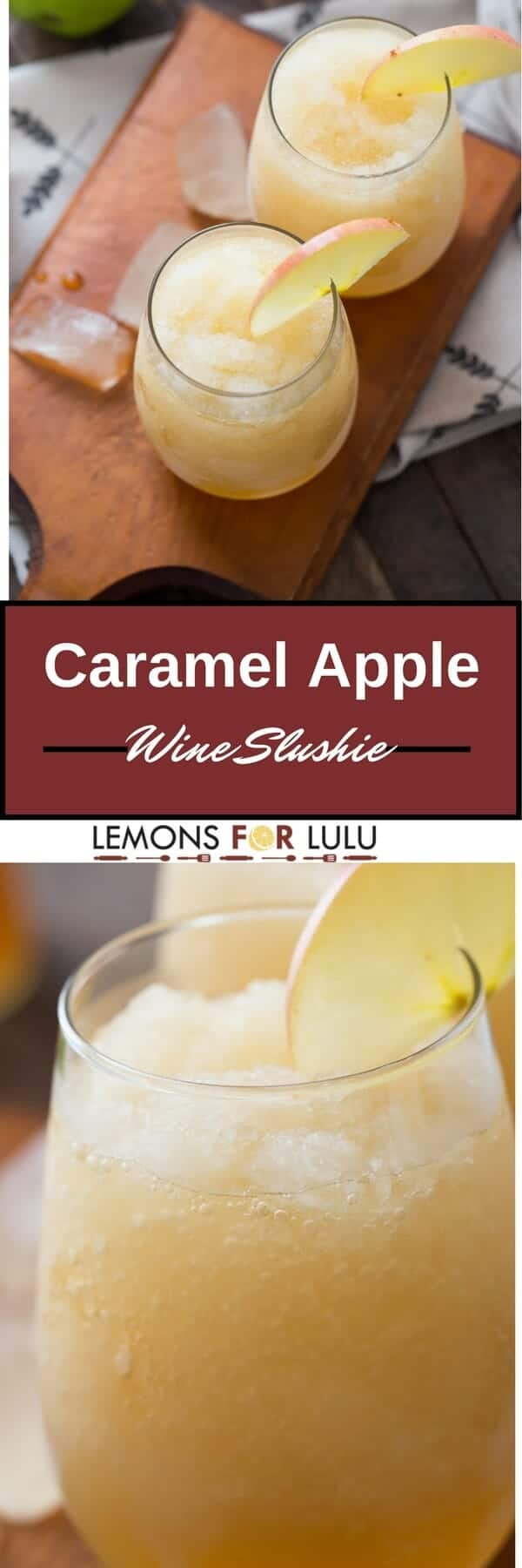 Apple cider and pinot Grigio make one delicious cocktail! You won't even notice the alcohol, just the sweet caramel taste!