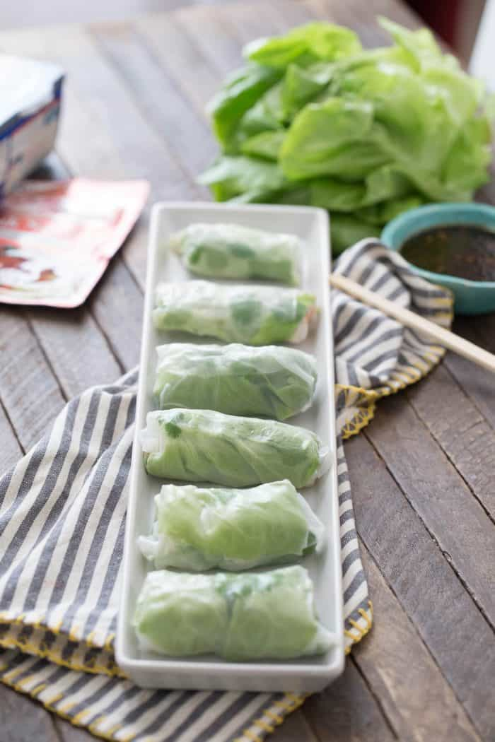 Skip the take out! These salmon spring rolls are so easy to make at home!