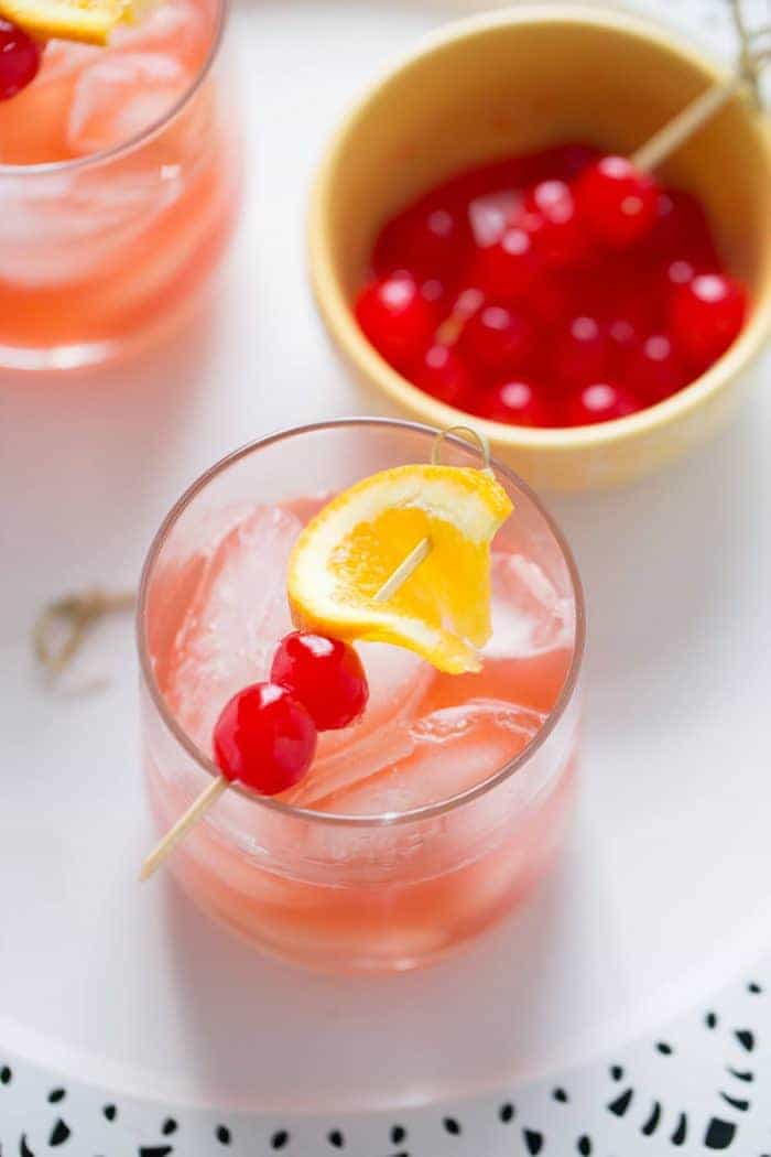 Bourbon, lemons and grenadine make up this bourbon Daisy. This is such a sophisticated and fun way to enjoy bourbon.