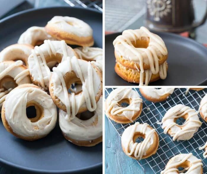 Love donuts? These baked sweet potato donuts capture all the flavors of fall! The browned butter frosting is the best!