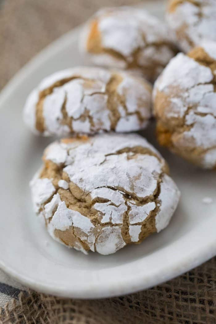 Crinkle cookies are fun and easy to make. This caramel crinkle cookie recipe is a nice change from tradition!