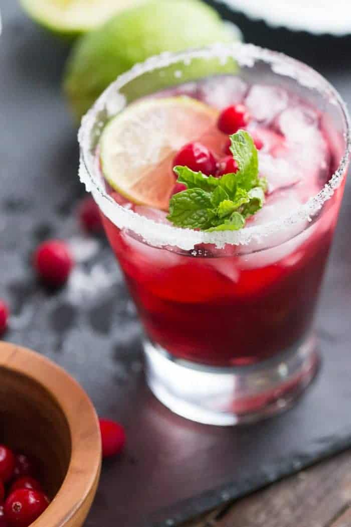 What is red, green, cool and delicious? This cranberry daiquiri!