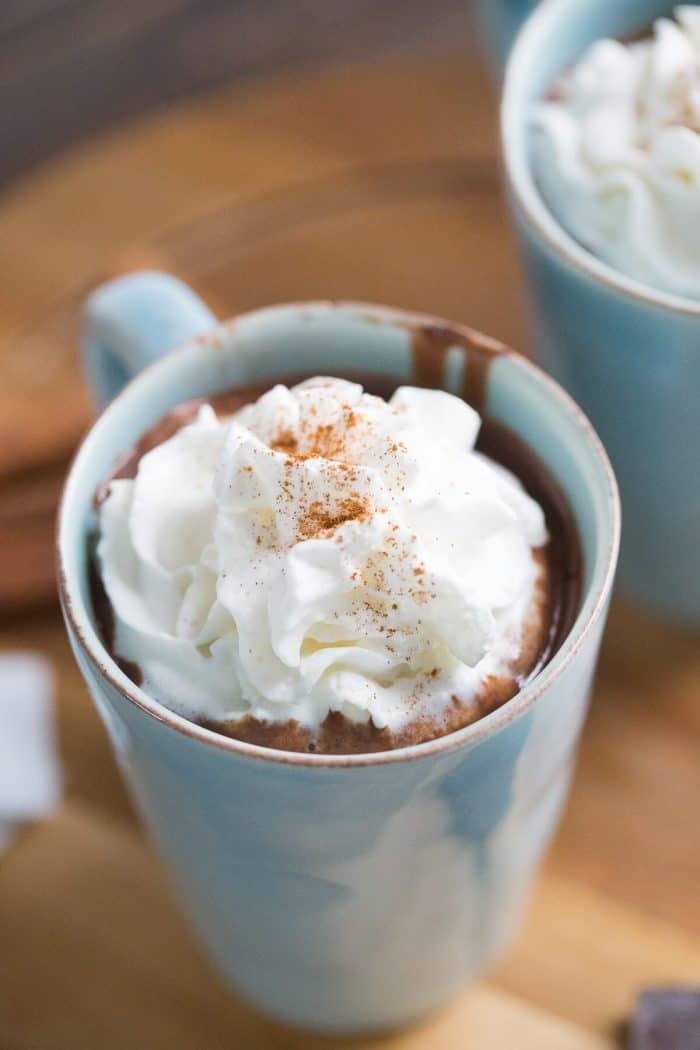 This Mexican hot chocolate is the creamiest cocoa ever! Its so rich and delicious!