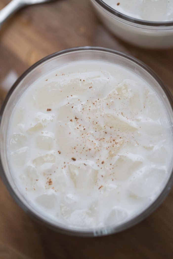 This salted caramel milk punch is boozy with a hint of sweet! It will liven up any occasion!