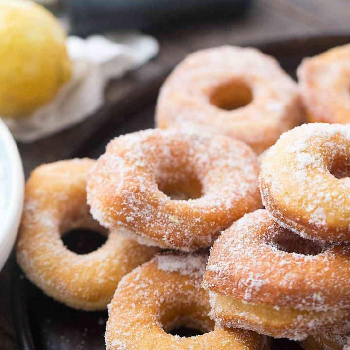 Donut biscuits are soft and tender with a vibrant lemon sugar coating