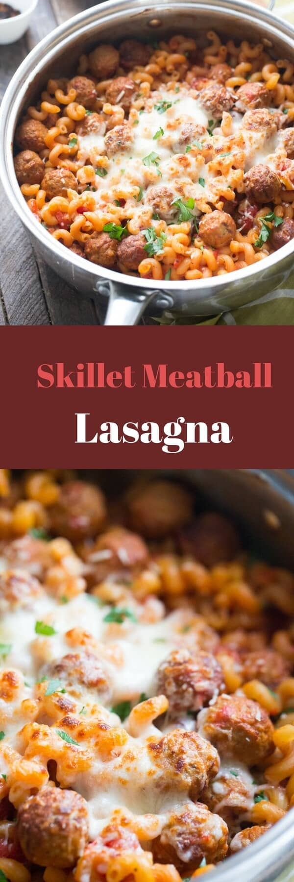 This meatball lasagna is the perfect recipe for those busy days! Simple ingredients make this meal a breeze without sacrificing any flavor!