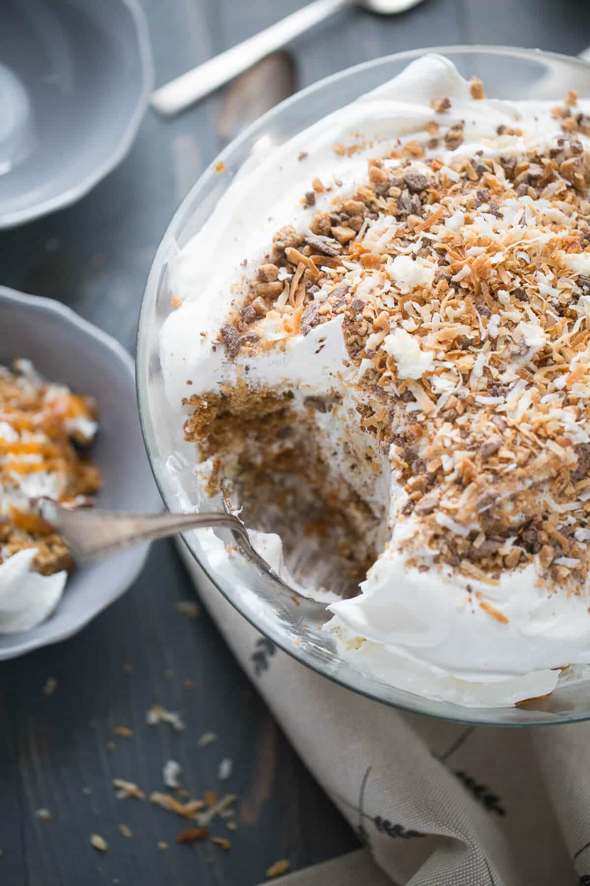 This recipe for carrot cake trifle will satisfy your carrot cake craving but with half the work!