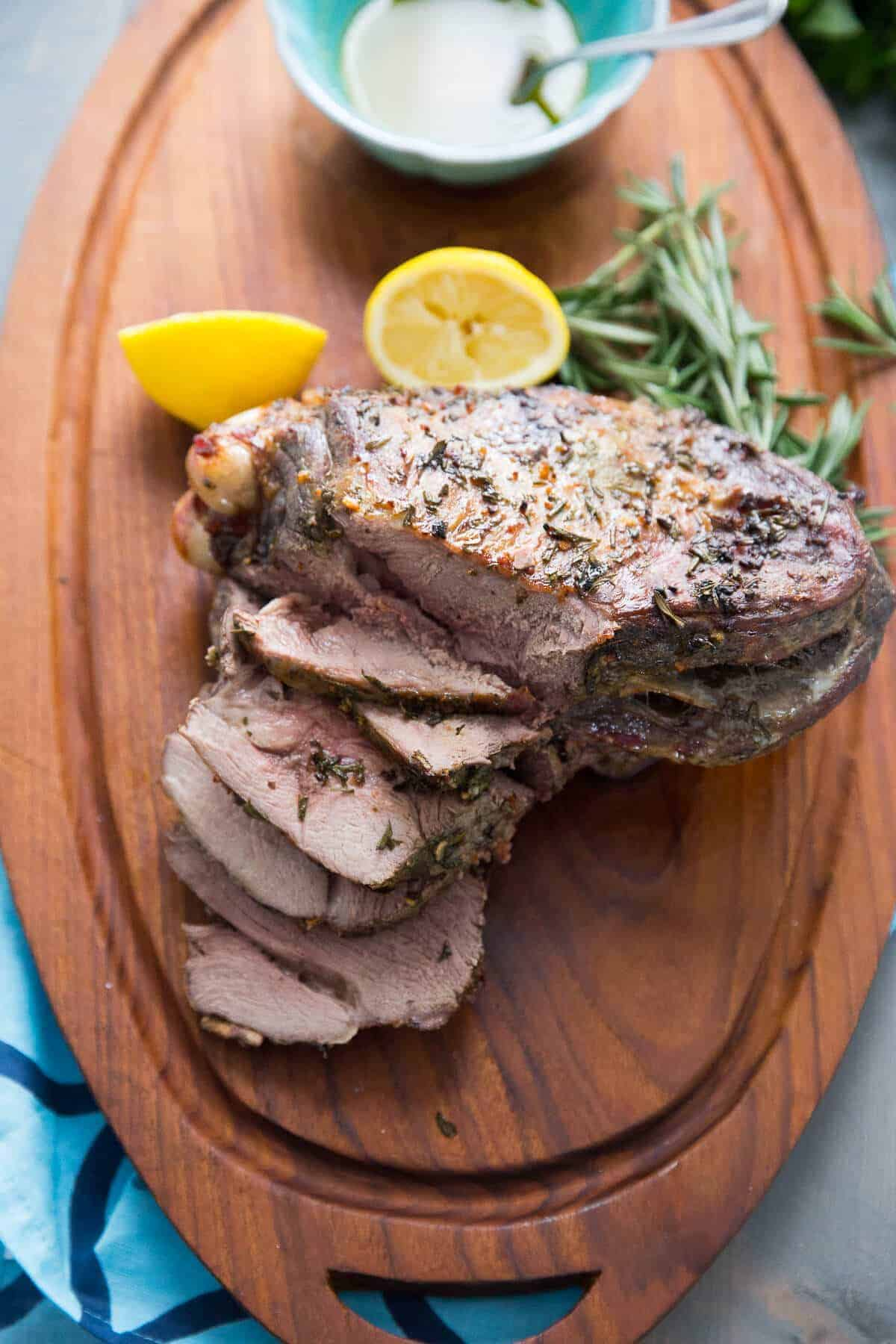 This easy lamb roast commands center stage! The Greek flavor make the most tender roast!