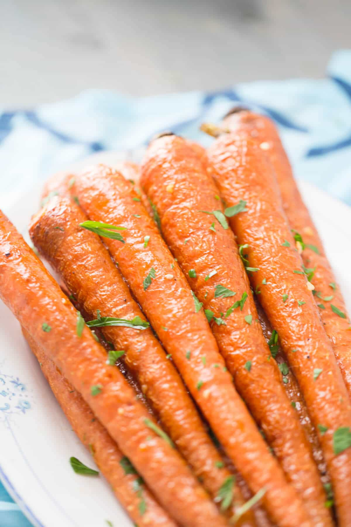 Oven roasted carrots make an easy side dish! They so sweet and delicious!