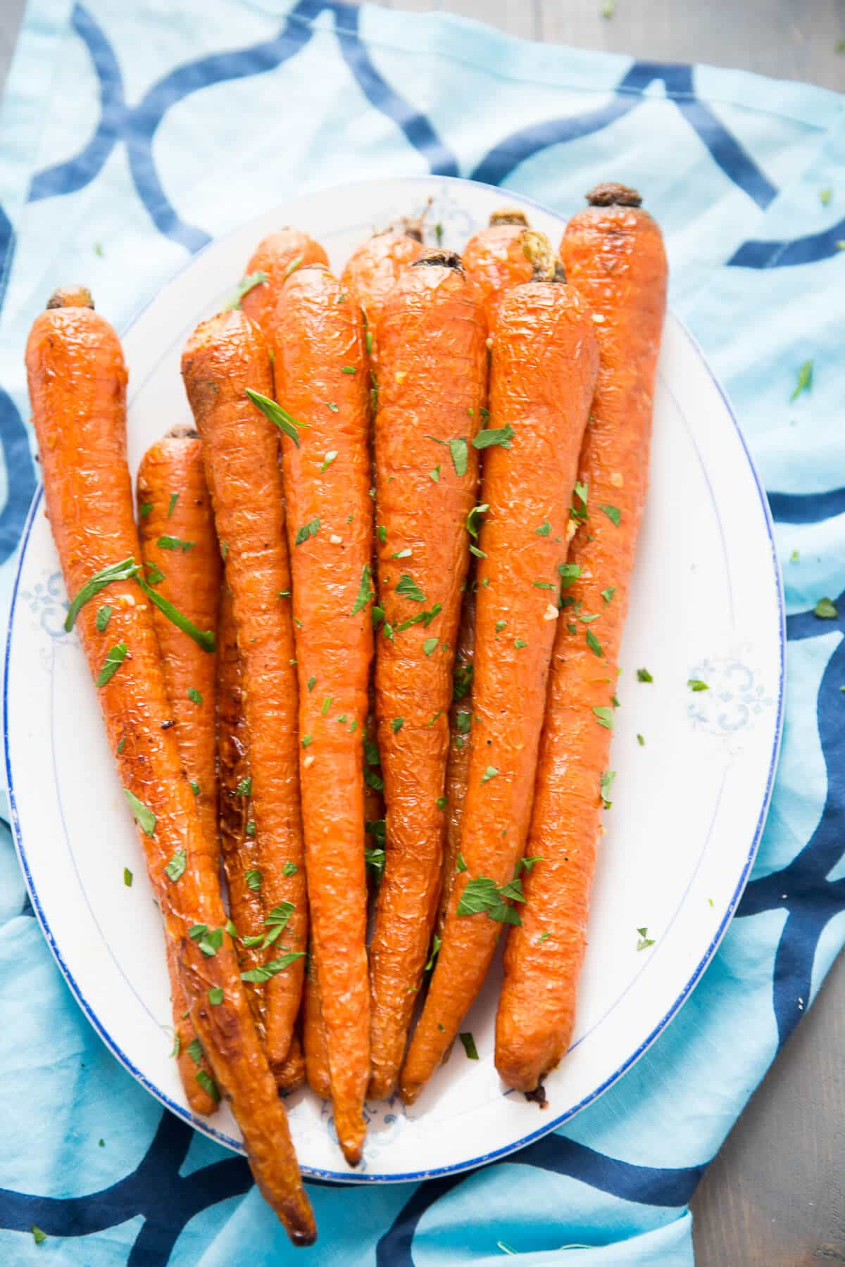 Oven roasted carrots are such a simple side dish! The bake up soft, tender and so delicious!