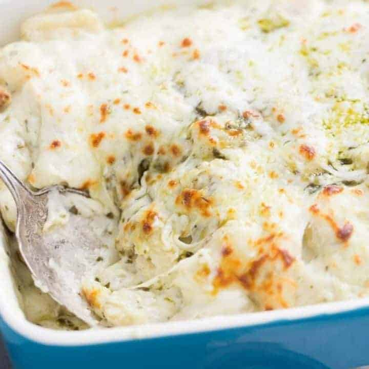 Easy baked gnocchi is creamy and delicious! Your family is going to love this easy recipe! lemonsforlulu.com
