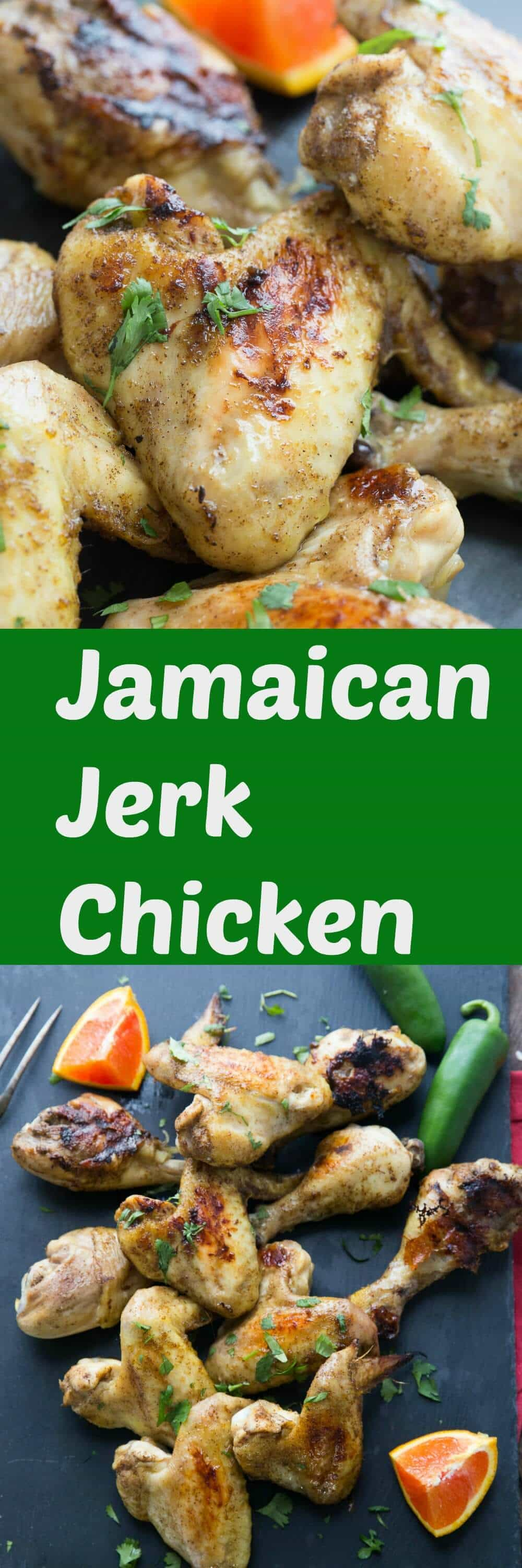 Want a taste of the Caribbean? This Jamaican Jerk chicken recipe has a little sweet and a little spicy.. It as intensely flavorful way to enjoy chicken! lemonsforlulu.com