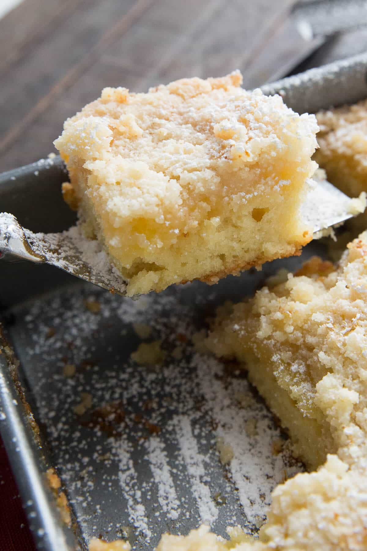 A tender crumb cake that is filled with lemon flavor cannot be beat! All it needs is a cup of tea!