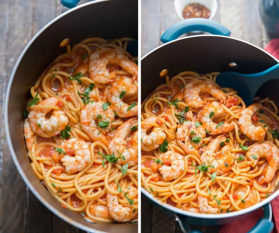 This shrimp diablo recipe is saucy and spicy! Turn up the heat if you dare!