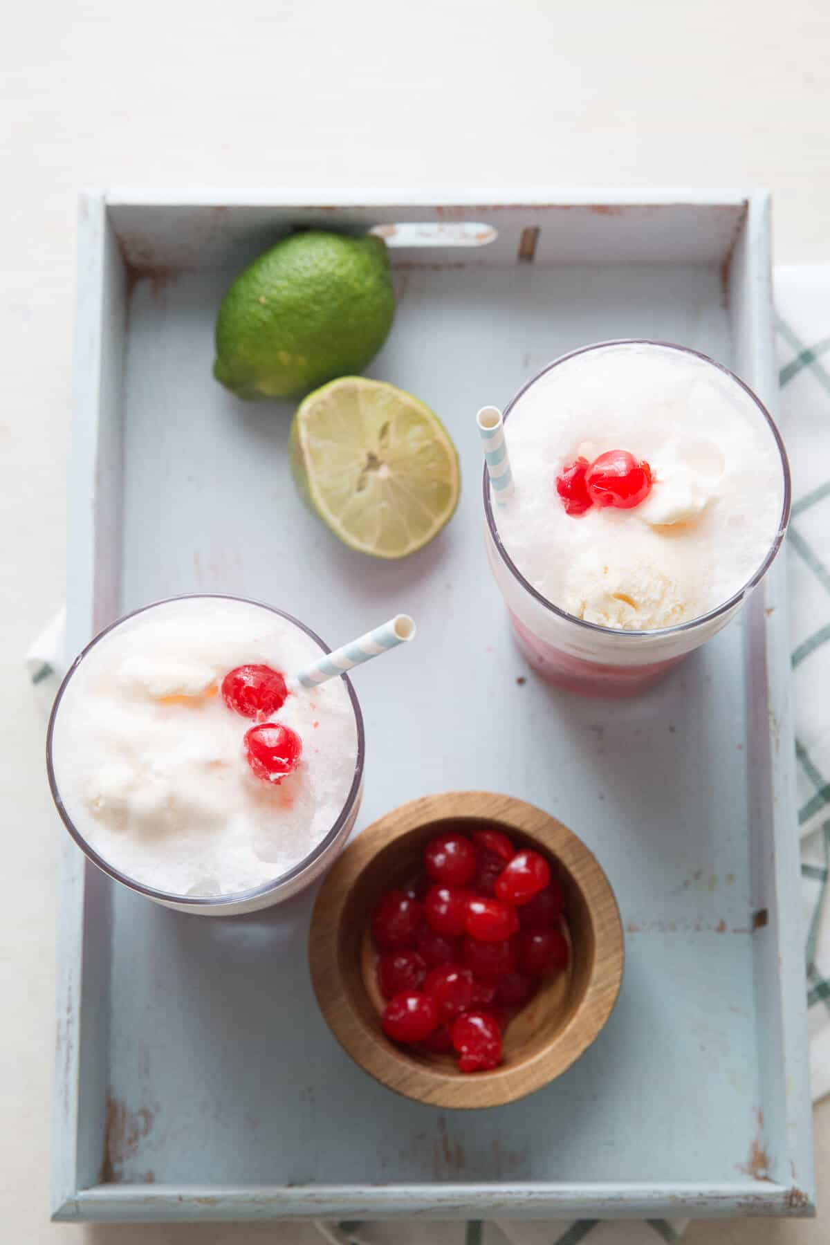 Cherry limeade floats will keep you cool on those hot days. This is fun, sweet and unique twist on ice cream floats!