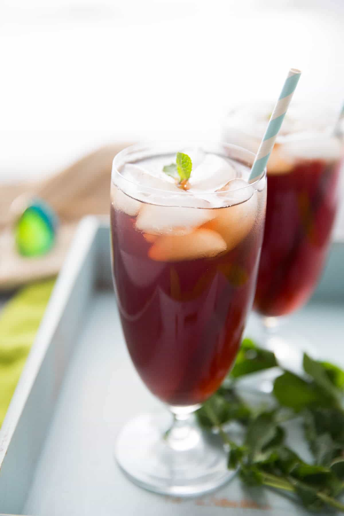 Iced tea is a must in the summertime, you have to try this simple pomegranate green tea recipe!