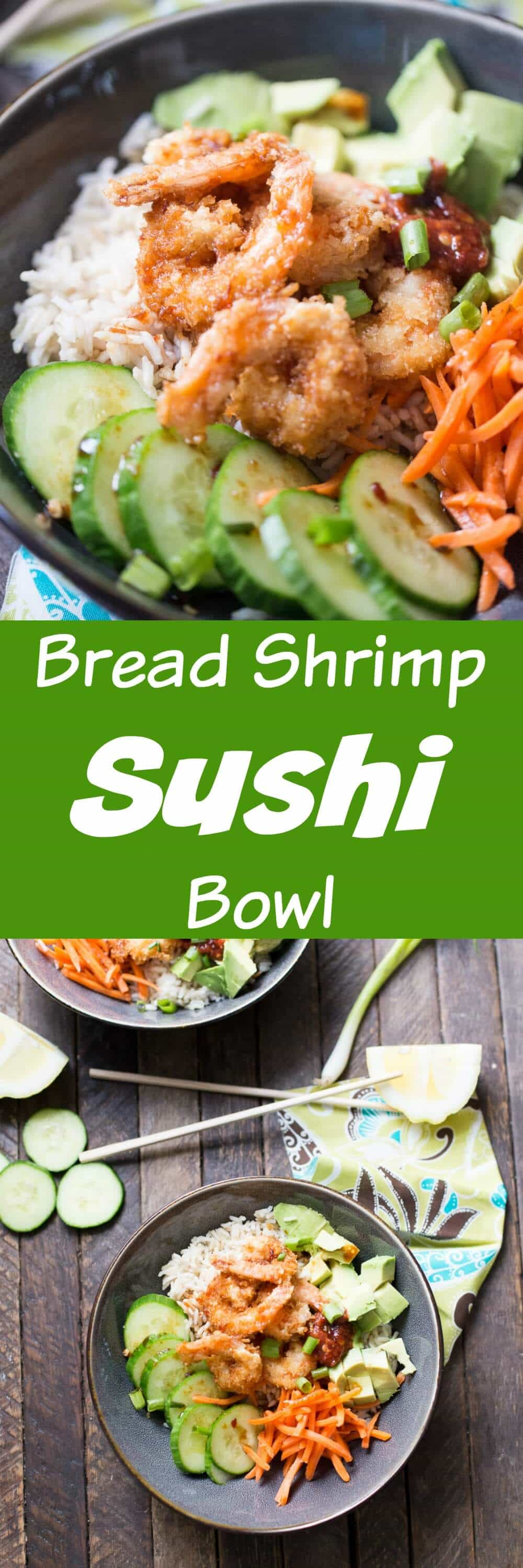Want sushi but don't want to go out to get it? Cook up some breaded shrimp and make a sushi bowl at home! This bowl has the flavors of sushi, but it easy, filling and you can make it at home!