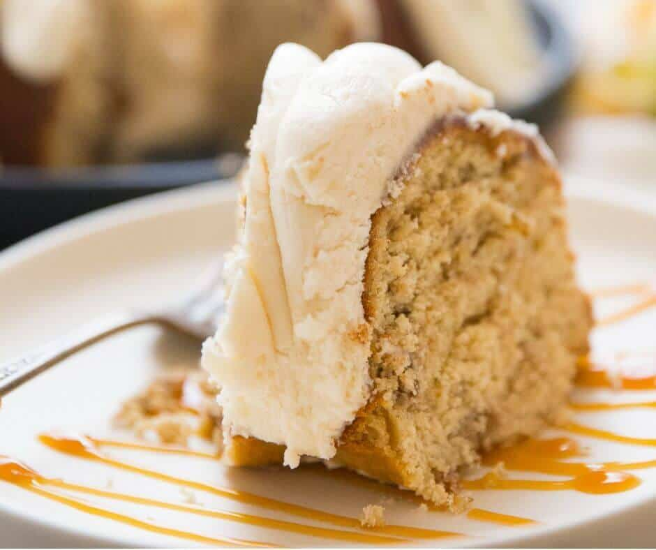 Brown sugar adds a deeper flavor to this cake than ordinary sugar.   Brown sugar the compliments baked into this easy apple bundt cake!