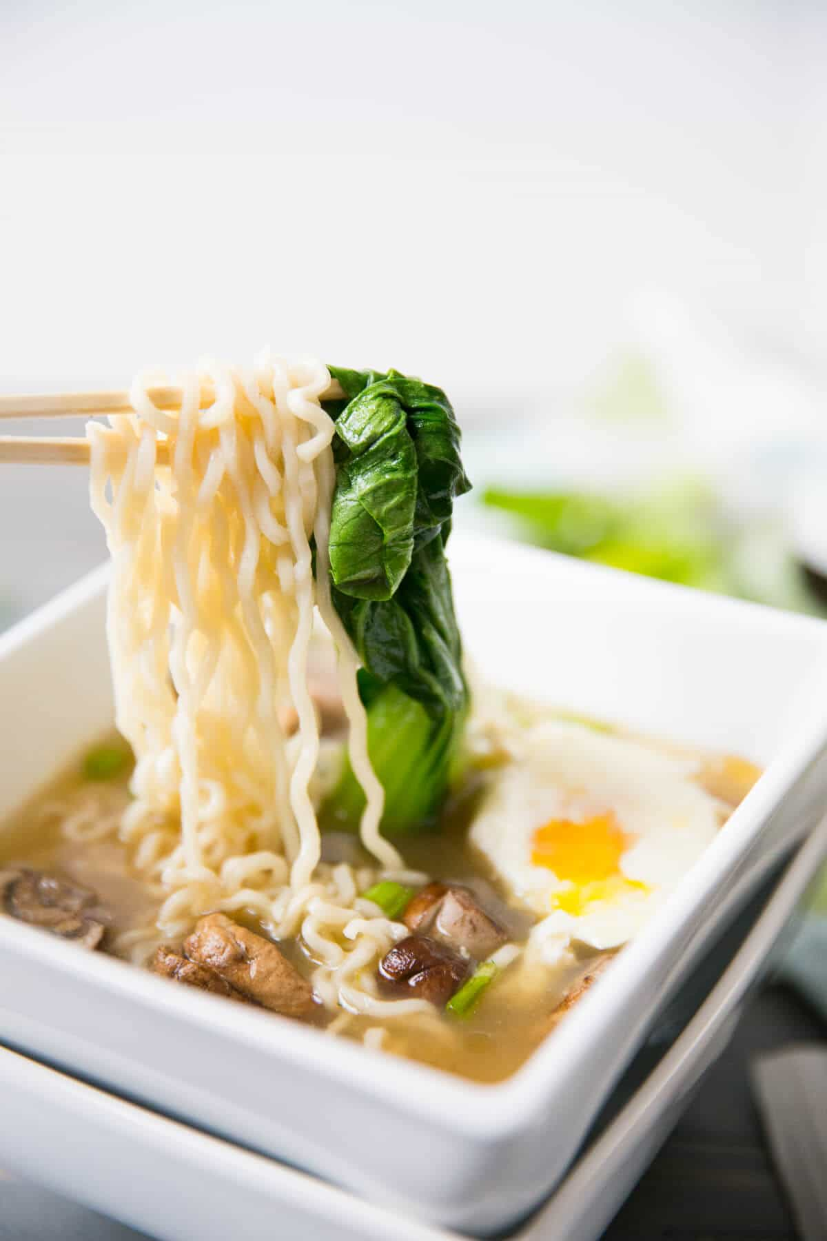 This Ramen Noodle Soup could replace chicken noodle soup as the most comforting soup in the world! The broth is full bodied, the ingredients simple and the process fast and easy!