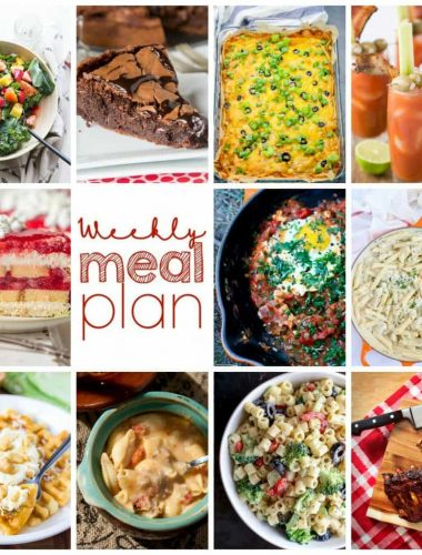 Weekly Meal Plan Week 115– 10 great bloggers bringing you a full week of recipes including dinner, sides dishes, and desserts!
