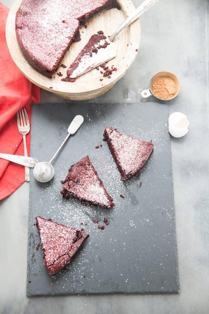 Red Velvet Flourless Cake Recipe