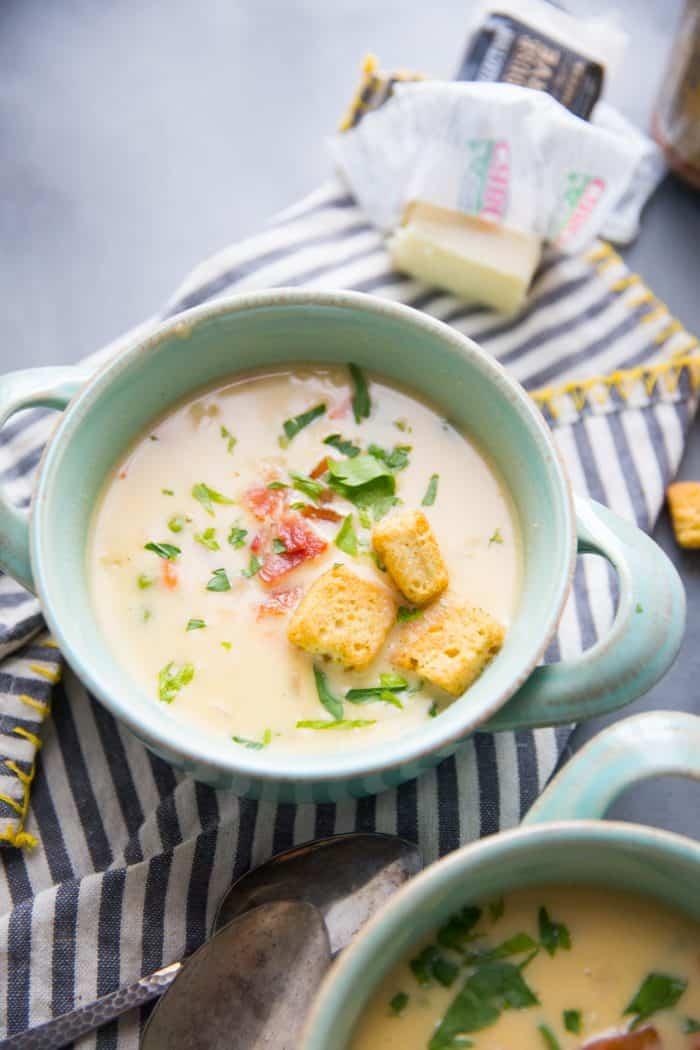 cheesy macaroni soup