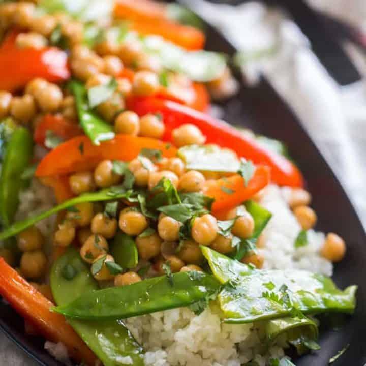 Honey and Garlic Vegetarian Stir Fry