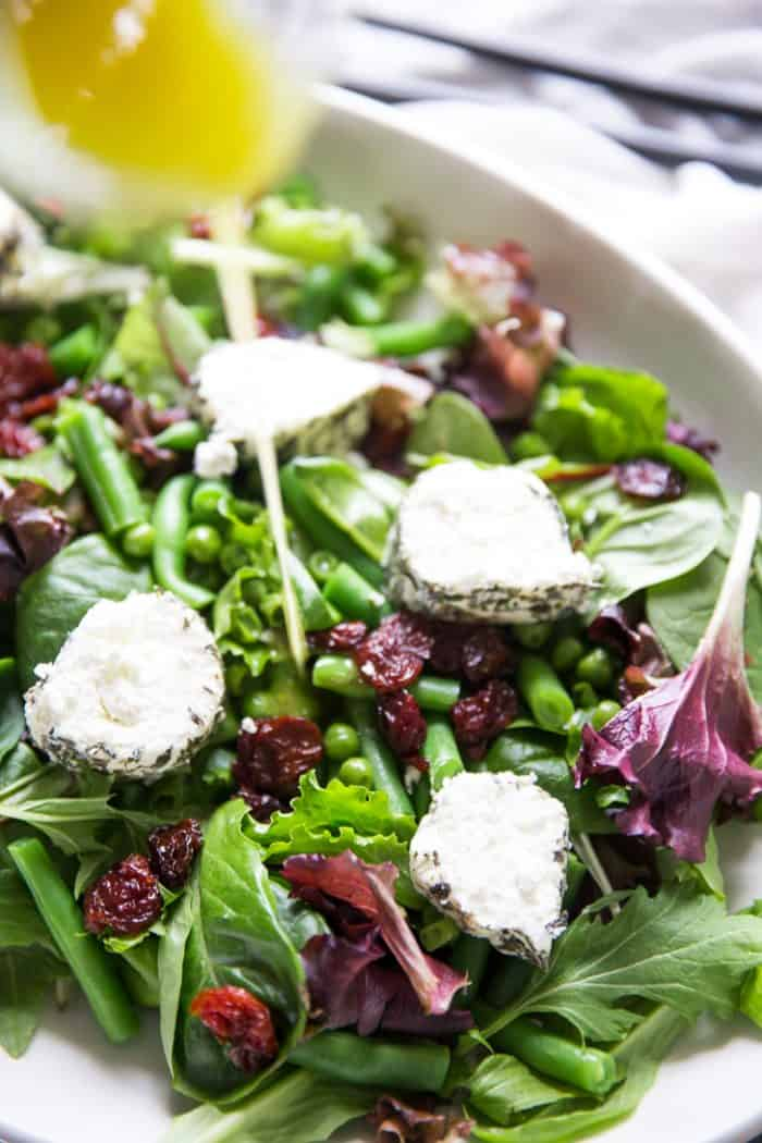 Spring Salad Recipe with dressing