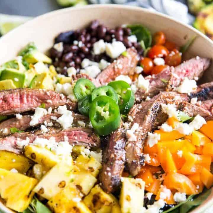 Easy taco salad recipe close up