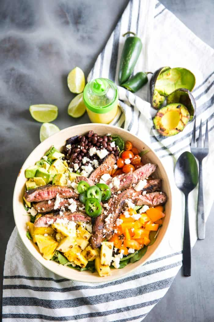 Easy taco salad recipe fork and knife on the side