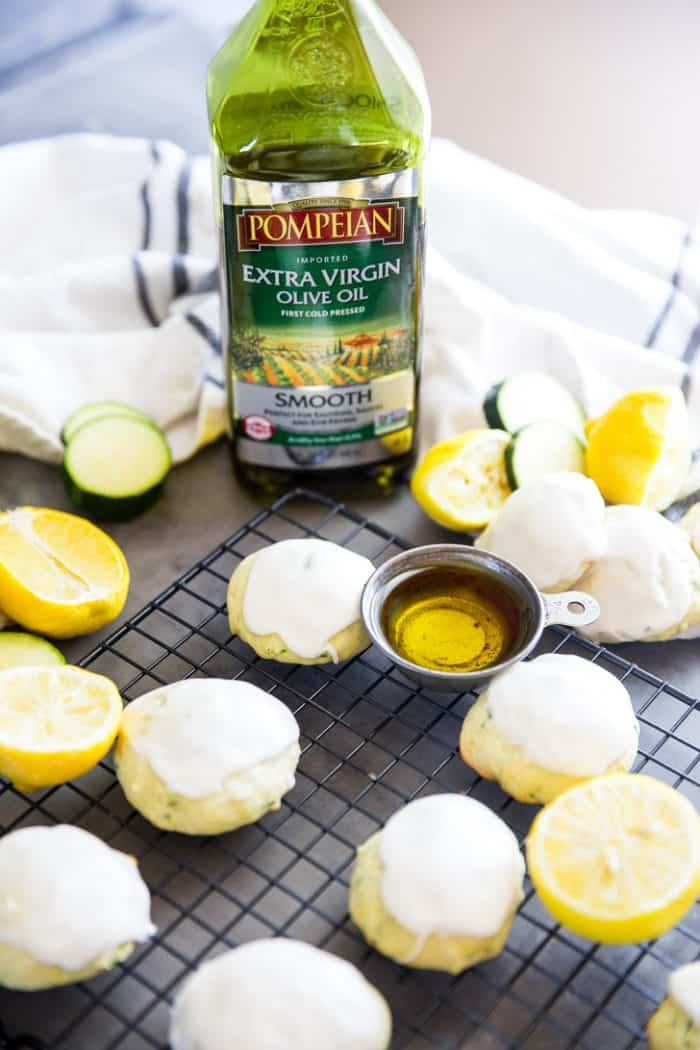 Zucchini cookies with olive oil