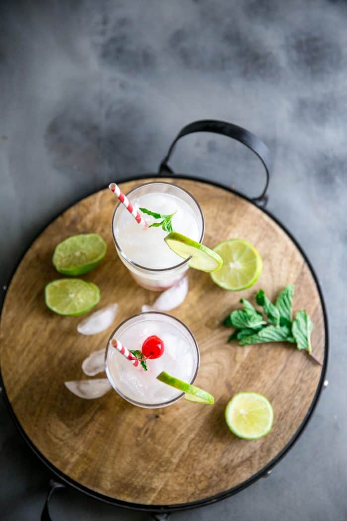 Cherry Vodka Lemonade top down view