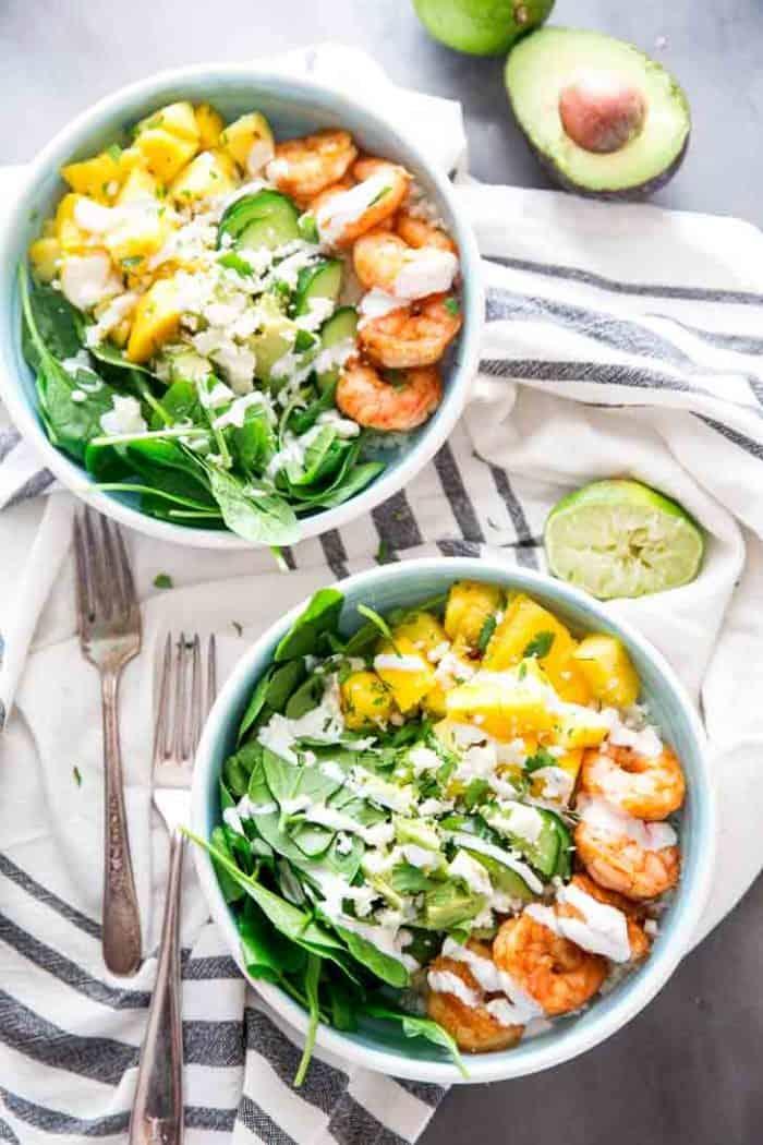 Grocery service for Island shrimp bowl