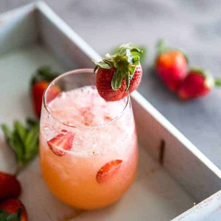 Strawberry Grapefruit Vodka Cocktail