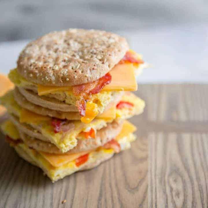 Denver omelet stacked
