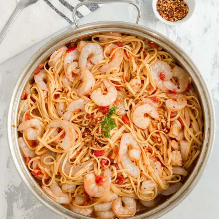 One Pot Shrimp Diablo