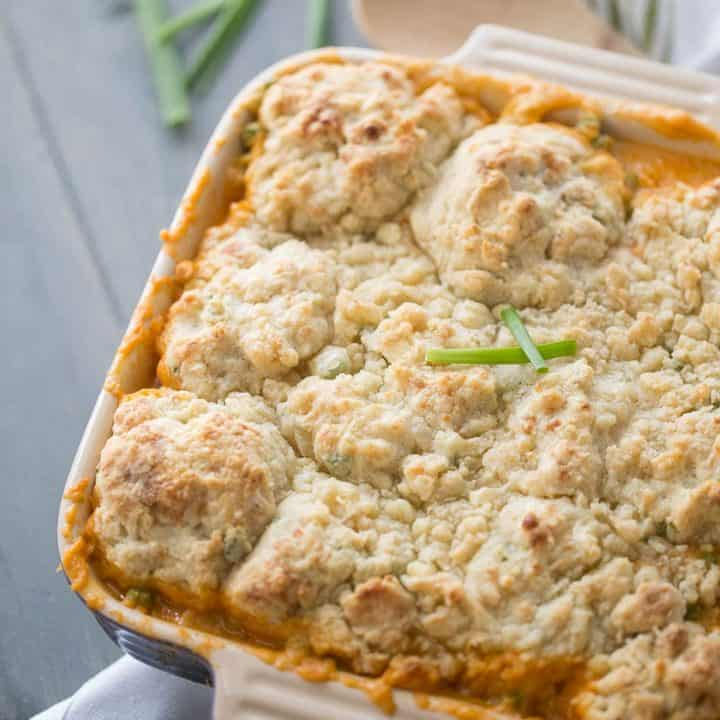 Buffalo Chicken Cobbler