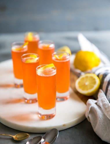 jello shots with lemon twist