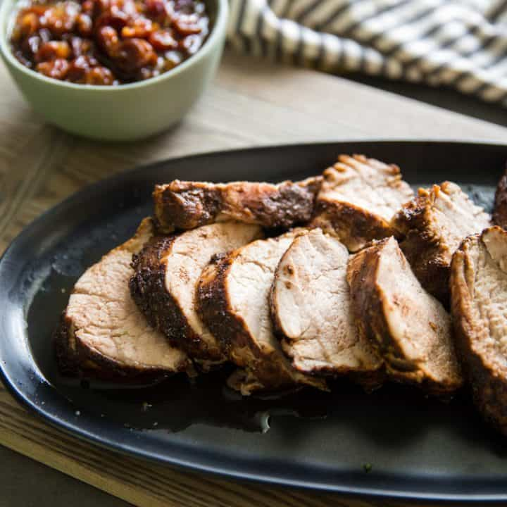 sliced pork tenderloin roast