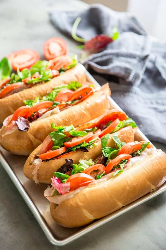 Spicy Italian Subs 4 subs