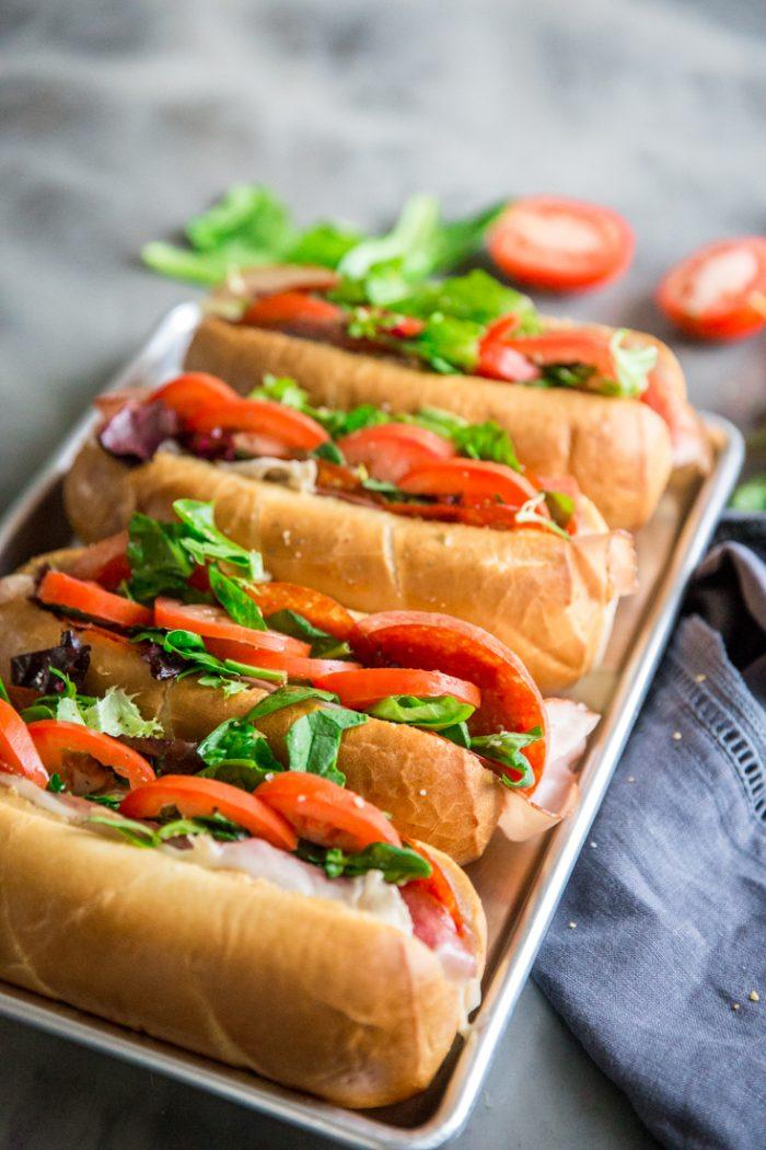 Spicy Italian Sub rolls