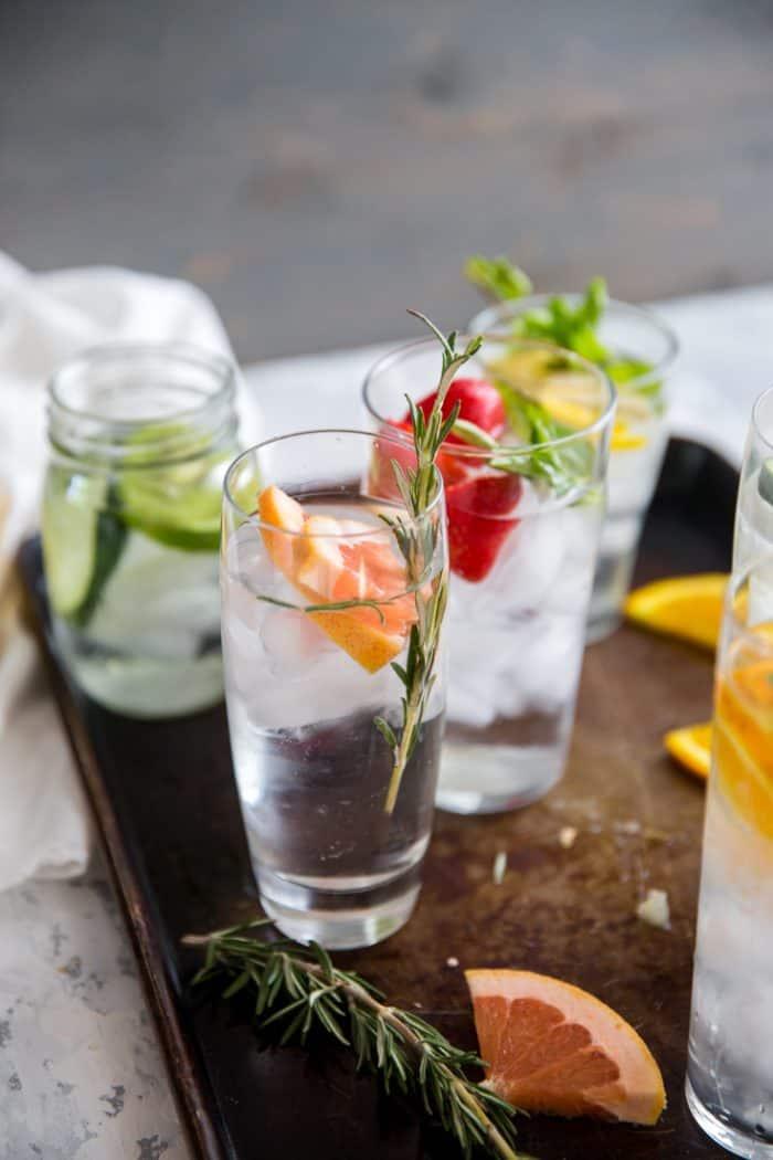 Detox water grapefruit