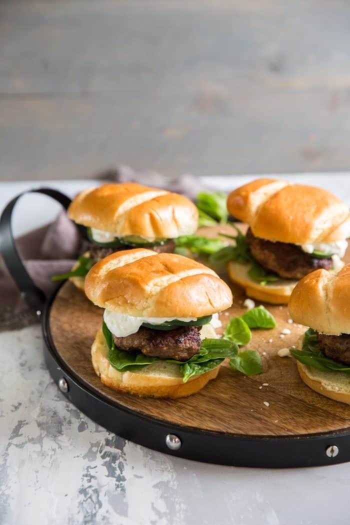 Lamb burger 4 burgers