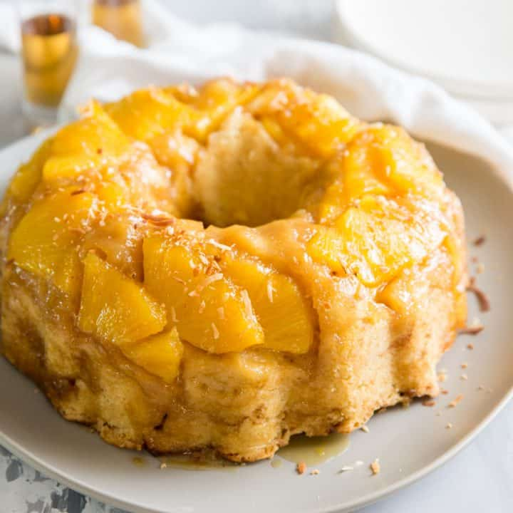 rum cake pineapple topping