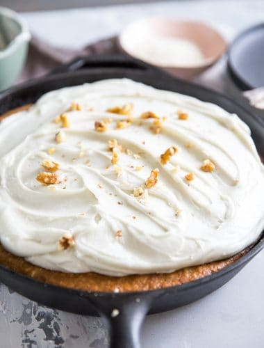 Skillet hummingbird cake whole
