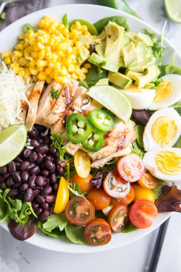 Southwest cobb salad jalapeno