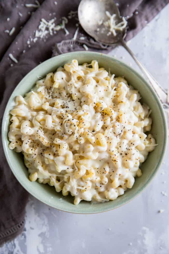 Bowl of homemade mac and cheese